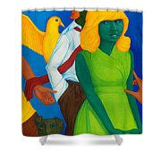 Summertime Forgotten Long Ago. Shower Curtain
