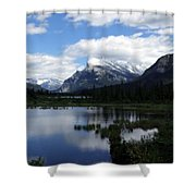 Summertime In Vermillion Lakes Shower Curtain