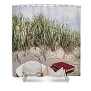 Summertime Is Reading Time Shower Curtain