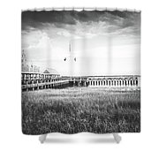 Summertime Storms In Charleston Shower Curtain