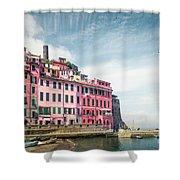 Summertime Town Shower Curtain