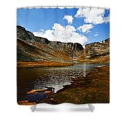 Summit Lake Colorado Shower Curtain