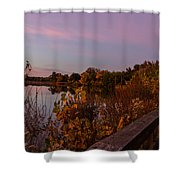 Summit Lake Magic Hour  Shower Curtain