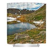 Summit Lake Study 5 Shower Curtain