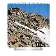Summiting The Mount Massive Summit Shower Curtain