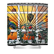 Sun And Hot Air Shower Curtain