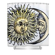 Sun And Moon, 1493 Shower Curtain
