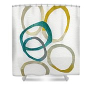Sun And Sky- Abstract Art Shower Curtain