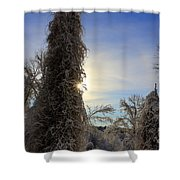 Sun And Snow  Shower Curtain