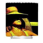 Sun Bathing Shower Curtain