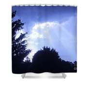 Sun Beams In Blue Shower Curtain