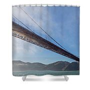 Sun Beams Through The Golden Gate Shower Curtain by Scott Campbell
