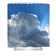 Sun Behind The Clouds 4 Shower Curtain