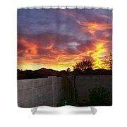 Sun Blast Shower Curtain