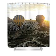 Sun Breaks The Horizon Shower Curtain