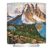 Sun Burst Peak Canada  Shower Curtain