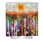 Sun Bursts Shower Curtain