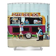Sun Coffee Shower Curtain