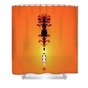 Sun Crown Light Two  Shower Curtain