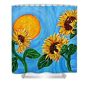 Sun Dance Shower Curtain by Sarah Loft