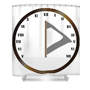 Sun Dial Face Shower Curtain