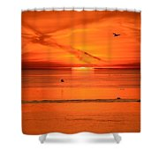 Sun Disk Behind The Cloud  Shower Curtain