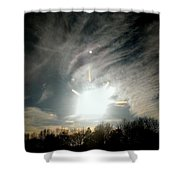 Sun Dog And Sunshine Shower Curtain