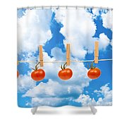 Sun Dried Tomatoes Shower Curtain