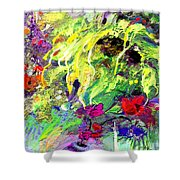 Sun Flower Bouquet Shower Curtain