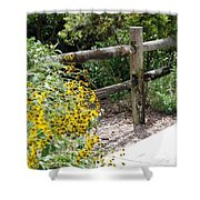 Sun Flower Fence Shower Curtain
