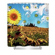 Sun Flowers Field Shower Curtain