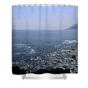 Sun Glints Off Te Ocean Near Cape Shower Curtain
