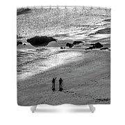 Sun Glow Black And White Shower Curtain