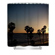 Sun Going Down In California Shower Curtain