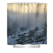 Sun Going Down On American Falls Shower Curtain