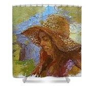 Sun Hat #1 Shower Curtain