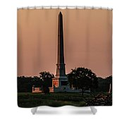 Sun Hitting The United States Regular Monument Shower Curtain