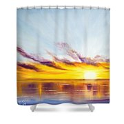 Sun In A Lake Shower Curtain