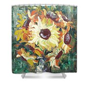 Sun In A Vase Shower Curtain