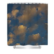 Sun Kissed Clouds Shower Curtain