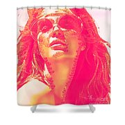 Sun Kissed Pearlesqued Shower Curtain