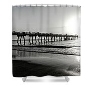 Sun Led Shower Curtain by Eric Christopher Jackson