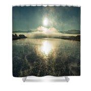 Sun O'er Missouri River Shower Curtain