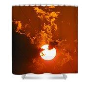 Sun On Fire Shower Curtain