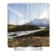 Sun On The River Shower Curtain