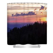 Sun Over Cedar Shower Curtain