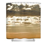 Sun Rays And Clouds Over Santa Cruz Shower Curtain