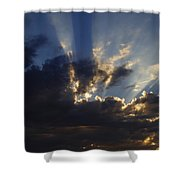 Sun Rays Shower Curtain