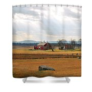 Sun Rays On Codori Farm. Shower Curtain