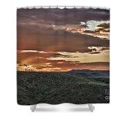 Sun Rays On Colorado Sage Shower Curtain